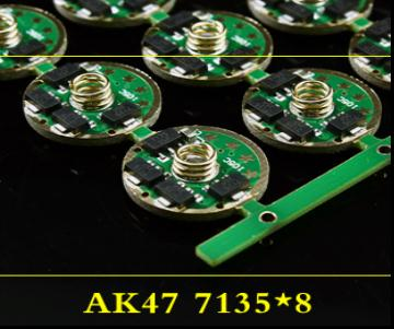 1 pçs motorista de lanterna 5 modos 17mm 3-4.5 v placa de circuito para q5 r5 t6 u2 peças diy acessórios da tocha 7153*8