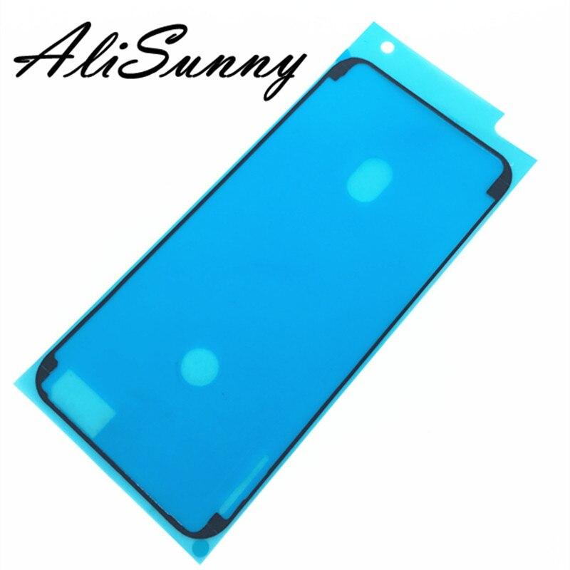 Alisunny 20 pçs adesivo impermeável para iphone 6 s 7 plus 6sp 7g cola pré-cortada para iphone 8x8 p lcd quadro fita partes