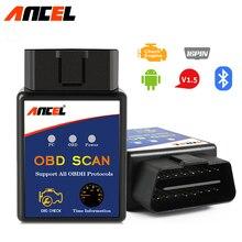 Elm327 Bluetooth ELM 327 V1.5 OBD2 OBDII adapter Auto skaner dla telefonu z systemem Android narzędzie diagnostyczne PIC18F25K80 Ancel