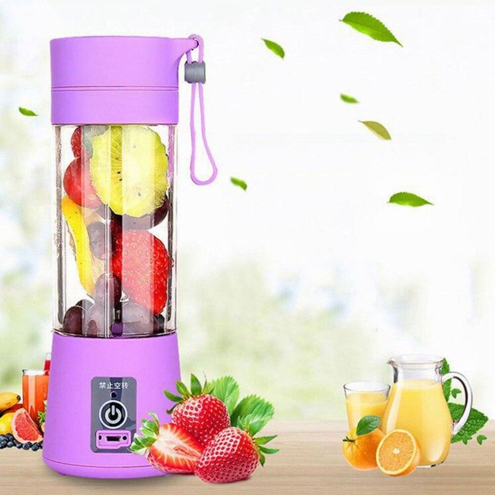 Smoothie Maker Blender Shake Slow Juicer Mini Portable USB Rechargeable Electric Fruit Juicer Machine