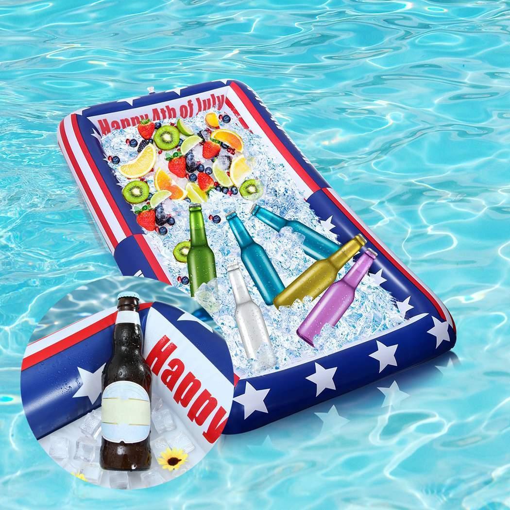 Bandeja de ensalada inflable de PVC para fiestas de agua para servir como fiesta de fotos, plato de fruta para piscina