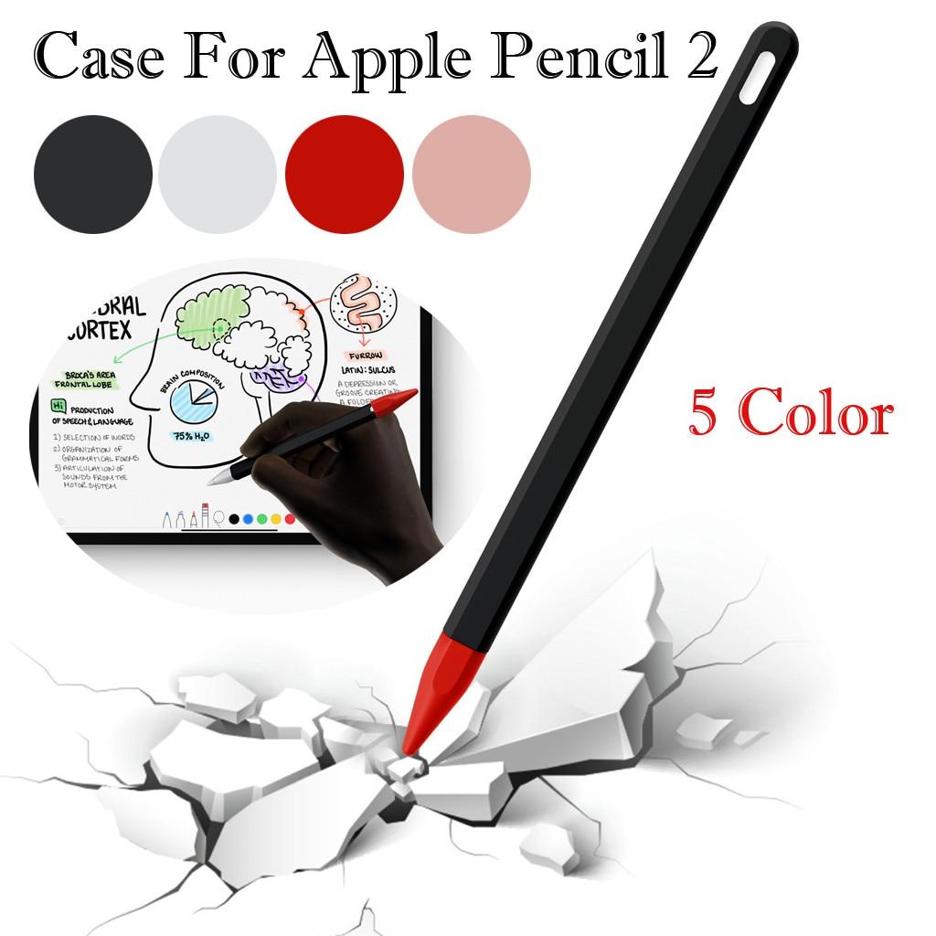 Protector elástico de silicona de agarre de la cubierta de la piel del caso para lápiz Apple 2 Nueva silicona suave para lápiz Apple caso para iPad
