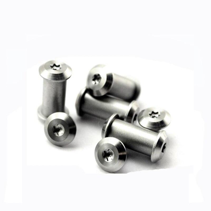 Knife steel screw rivet Decorative appearance Hexagon Plum Nut+screw Knife diy accessories T8