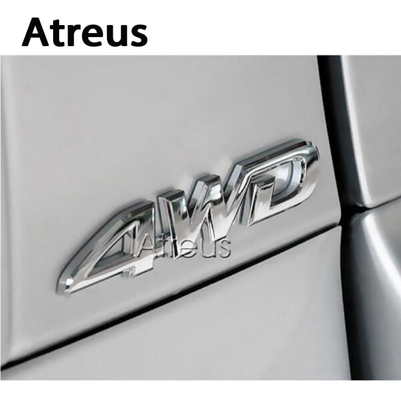 Металлический стикер Atreus 3D 4WD 4x4 для Kia Rio Ceed sportage Honda civic Renault duster Volvo Subaru, аксессуары
