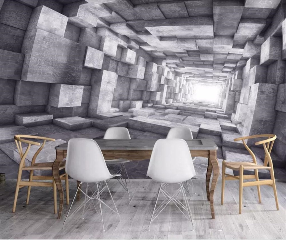 Papel pintado personalizado beibehang, mural 3d, extensión retro europea, túnel espacial, Fondo de viento industrial, papel de pared, papel tapiz 3d