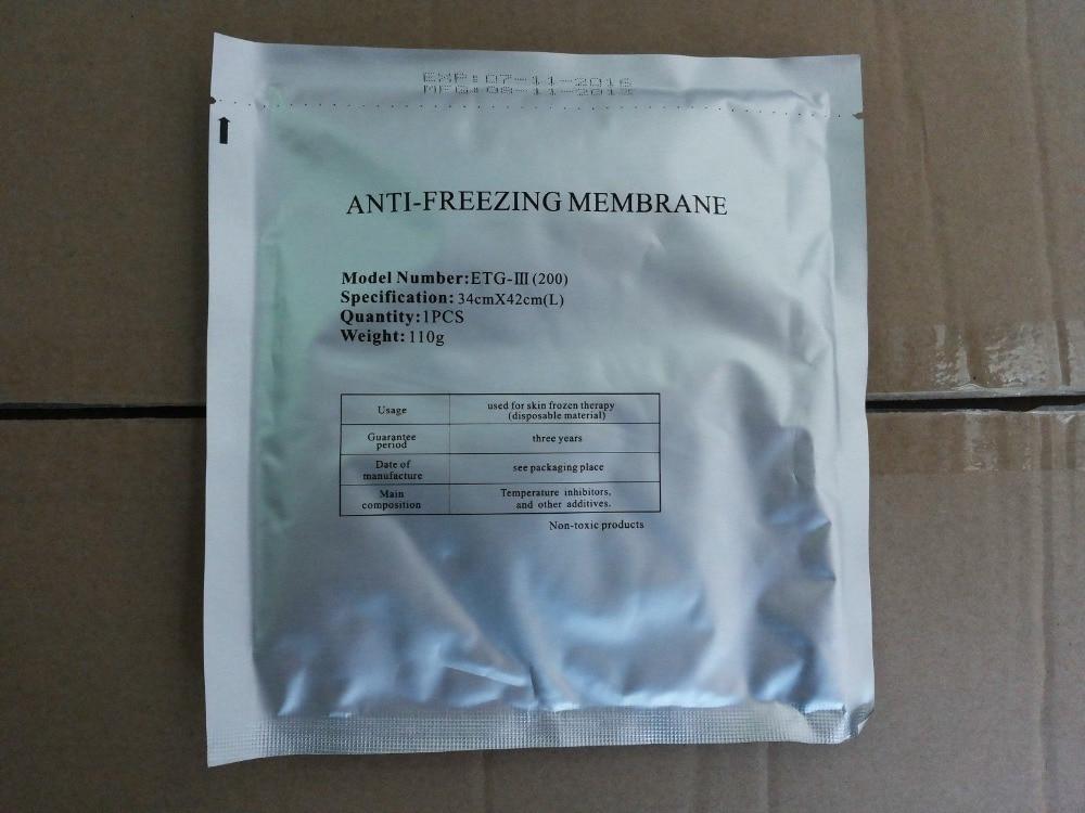 Membrana anticongelante tamaño grande 34*42cm 50 piezas para criolipólisis máquina de congelación de grasa