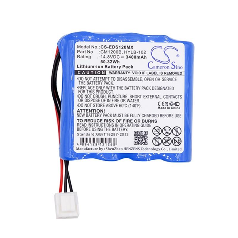 Cameron Sino 3400 mah bateria para COMEN CM-1200B SE-12 Express SE-1200 para MINDRAY ECG para EDAN DECG-03A SE-601A CM1200B HYLB-102