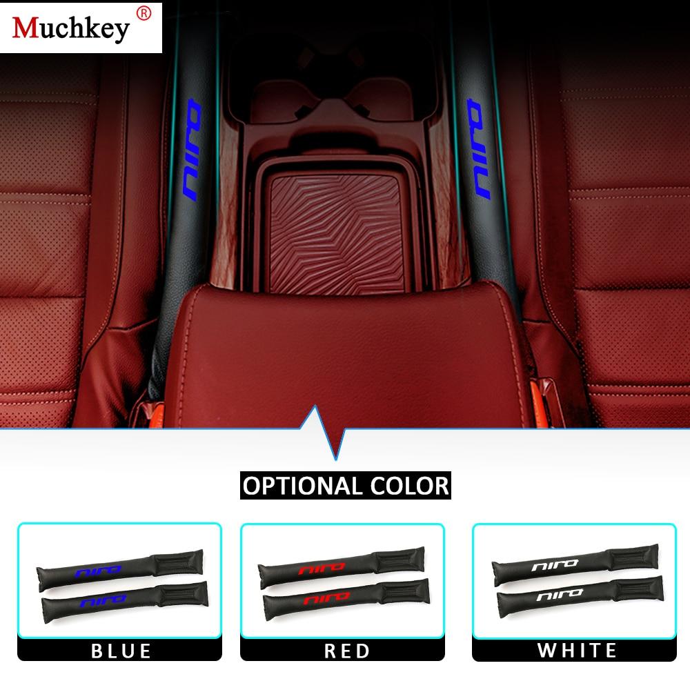 Car Seat Gap Padding Seam Plug  For kia Niro Stonic Car Decoration Leak-Proof Slot Plug Stopper PU Leather 2Pcs