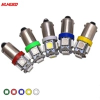 10pcs t11 ba9s canbus error free 5050 smd 5 led 5smd car light bulbs turn signal led 12v tail lights t4w 3886x h6w 363 dome lamp