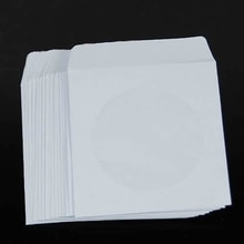 OOTDTY 50 papier CD DVD rabat manches housse enveloppes 5 pouces