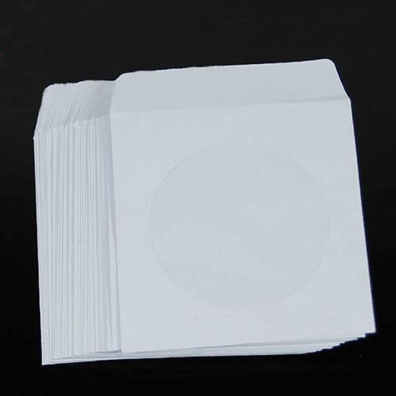 Ootdty 50 papel cd dvd flap sleeves capa envelopes 5 polegada