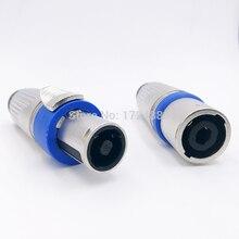 Metal Speakon connector nl4fc male&female 4Pin plug Audio linker connector waterproof