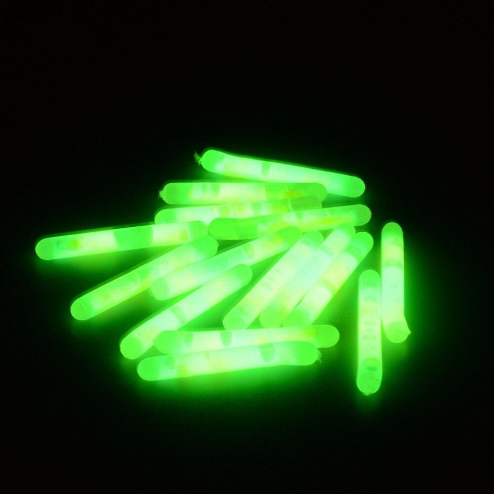 15/20pcs Glowing Fluorescent Fishing Light Visibility Luminous Float Night Fishing Float For Carp Sizes S L