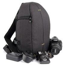 DSLR caméra sac à dos sac à bandoulière housse pour Nikon D5300 D3400 Canon 1300D 5d4 Sony A7 Fujifilm Panasonic GH5s Photo étui à bandoulière