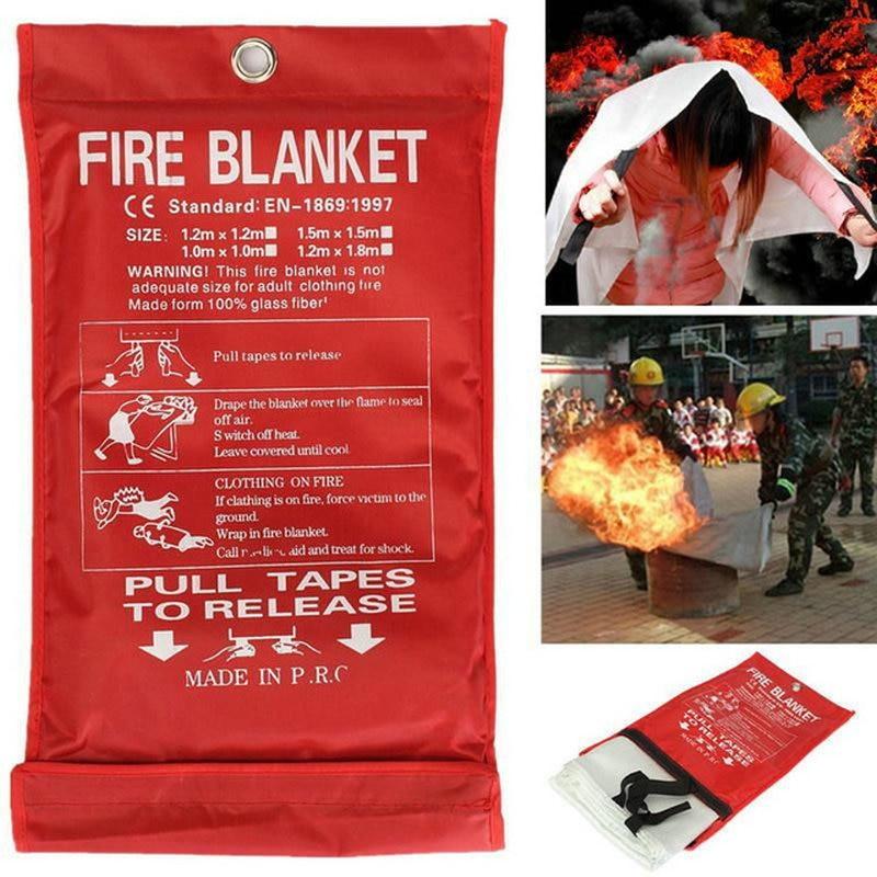 Огнезащитное одеяло 1 м * 1 м из стекловолокна, огнезащитное аварийное покрытие для выживания, противопожарное одеяло