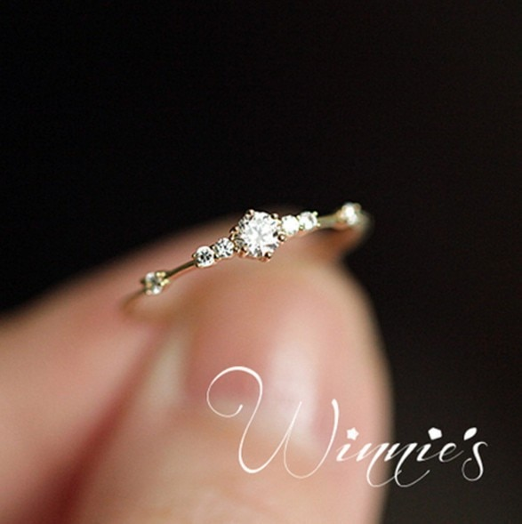 Nuevos anillos de boda de cristal de moda para mujeres, anillos de compromiso de dedo de circón de Color dorado/plateado para chicas, regalo de fiesta popular, joyería