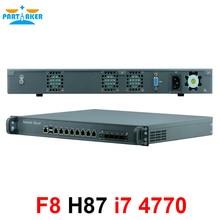 1U сетевое оборудование для брандмауэра с 8 портами Gigabit lan 4 SPF Intel Core i7 4770 4G RAM 128G SSD Mikrotik PFSense ROS