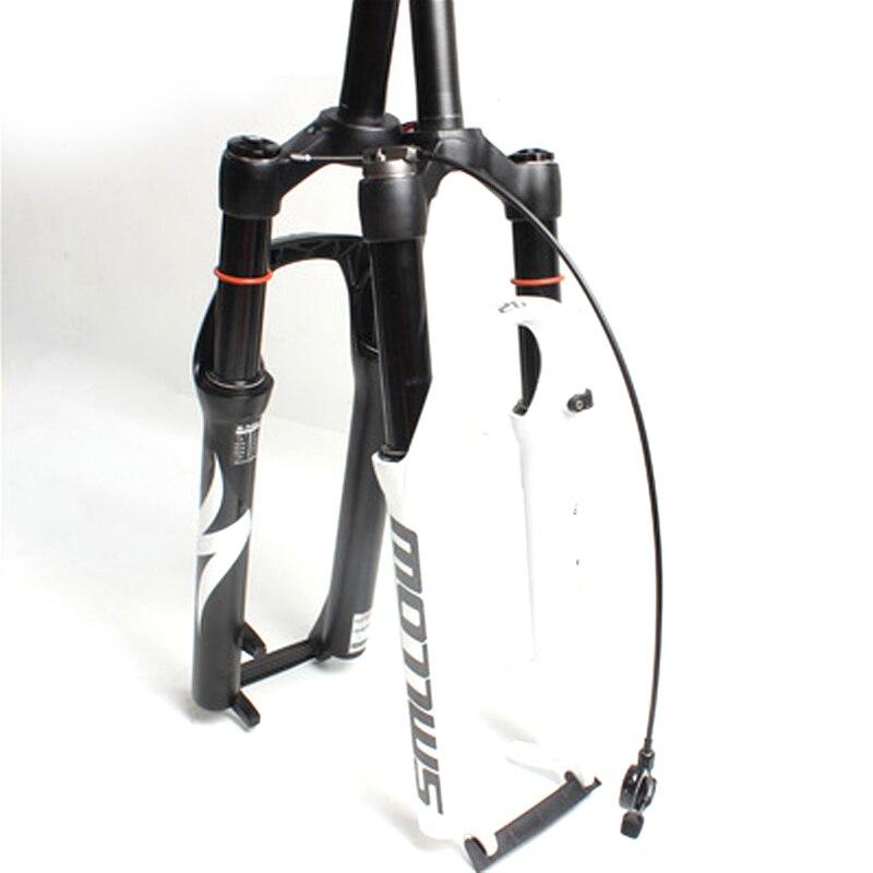 MTB bicicleta de montaña horquilla suspensión de aire de aceite/línea de resiliencia del aire/Control de hombro Down Hill suspensión bicicleta horquilla 26/27.5 pulgadas