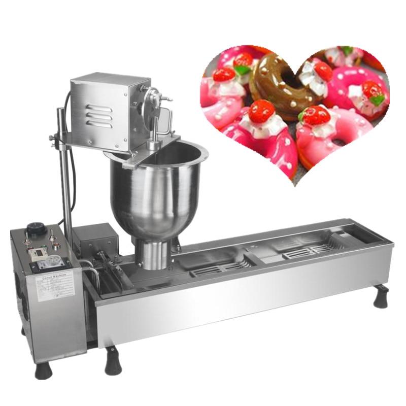 Máquina de fabricación de mini donas automática comercial 220 v 3000 w fabricante de rosquillas de acero inoxidable