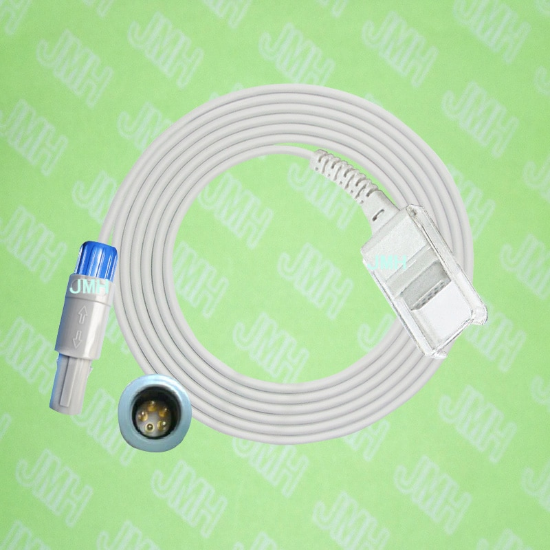 Compatible with Mindray PM9000,Goldway,Anke Pulse Oximeter,Spo2 sensor adapte cable,redel 5pin Male to DB9 Female ,Single key.