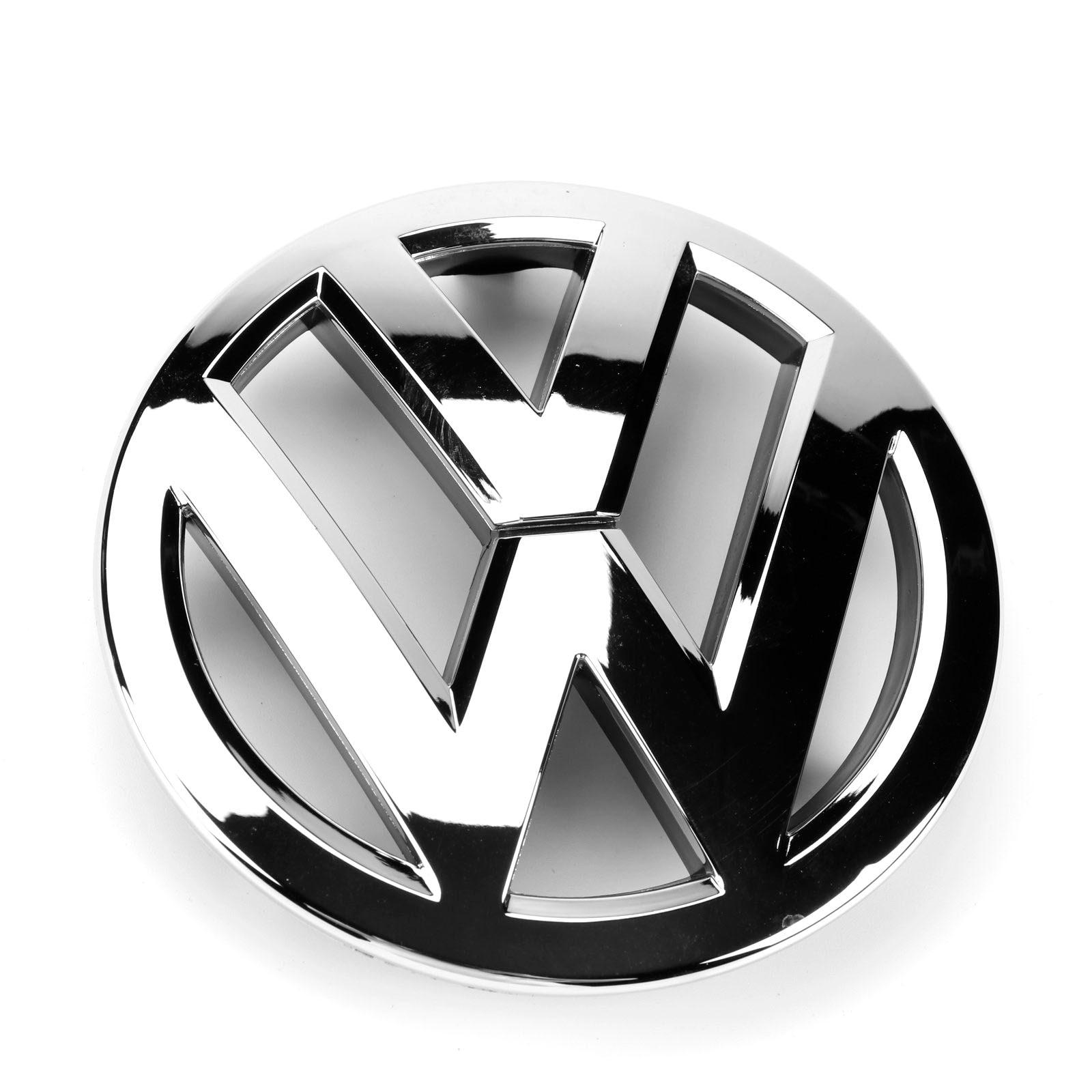 OEM 132MM cromo radiador delantero parrilla accesorios con logotipo para coche insignia Logo para Volkswagen VW Touran 2011