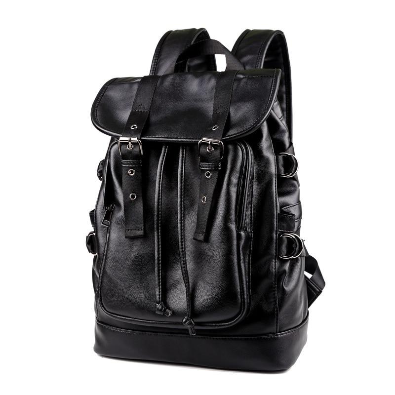 Backpack Men's Backpack Men Laptop Backpack PU Leather Backpacks For Teenagers School Bag Luxury Designer Casual Travel Bags
