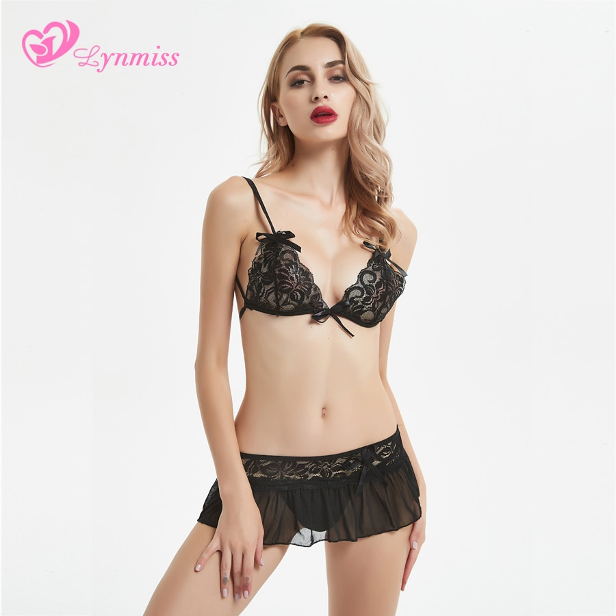 2019 Lynmiss Sexy Lingerie Hot Dress Underwear Lace Set Erotic Lingerie 1 Set G-string Sexy Costumes