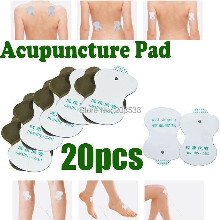 Almohadilla de masaje 20 piezas nuevas almohadillas de electrodos Tens acupuntura máquina de Terapia digital masaje a través de acupuntura reemplazo de almohadilla saludable