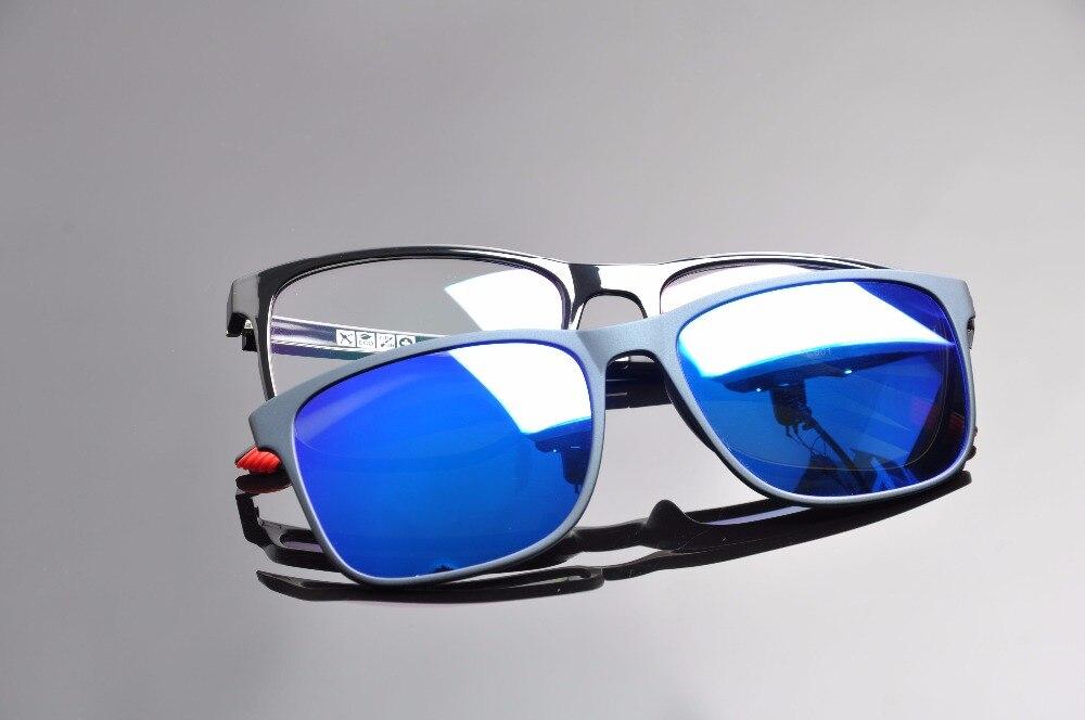 Магнитные поляризованные солнцезащитные очки DEDING 2016, с оптической оправой, линзы для близорукости, с защитой от синего УФ-излучения, DD1410