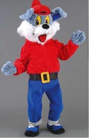 2016 nuevo traje de La Mascota Profesional Diperdy Perro Personaje de Dibujos Animados Mascota de Disfraces de Adultos Traje de Navidad Fiesta de Cumpleaños Funcy Vestido