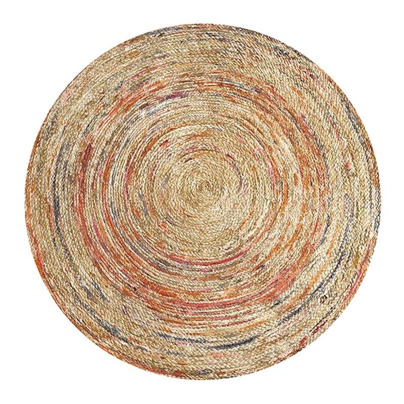 Geometric Nordic Printed Round Carpet For Living Room Persian Mandala Round Mat Kids Room Large Area Rug Home Bedroom Decorative