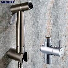 Shattaf kit de Douche pulvérisateur   Bidet à main, kit de Douche, robinet de Bidet, Nickel brossé, acier inoxydable 304