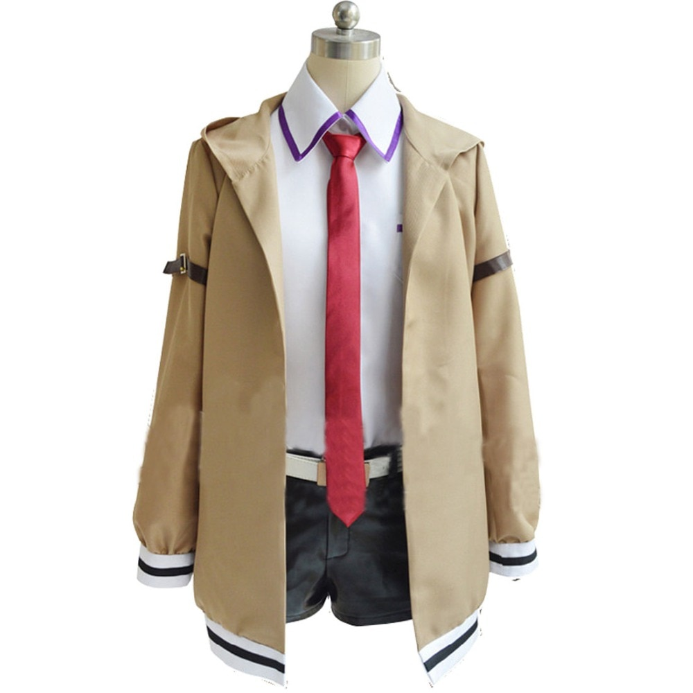 Disfraz de Cosplay de Steins Gate 2020, disfraz de Anime japonés, Cosplay de Makise Kurisu, sólo chaqueta, traje, traje, uniforme