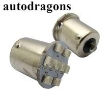 Autodragon ons 10 قطعة 8 * 3528SMD مكافحة الخفقان الكرة والدبابيس LED أضواء لمبة 12V13V 1156 Ba15s #89 الجعة حربة ماكينة بينبول أجزاء