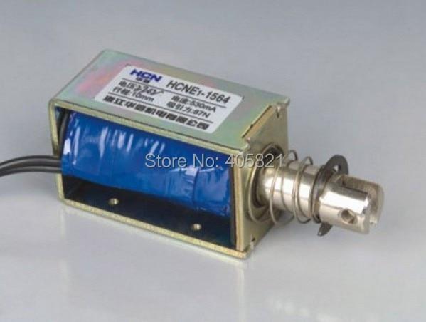 Actuador solenoide electroimán de fuerza de 24 V de retención/liberación de 10mm de carrera de 8,7Kg