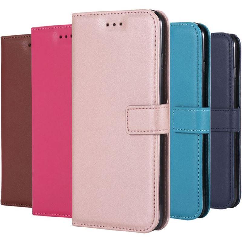 Caso para Samsung Galaxy Nota 9 8 5 4 3 G360 G386F G530 G390F Xcover4 j2 primer cartera tarjeta funda soporte de piel de cordero P21E
