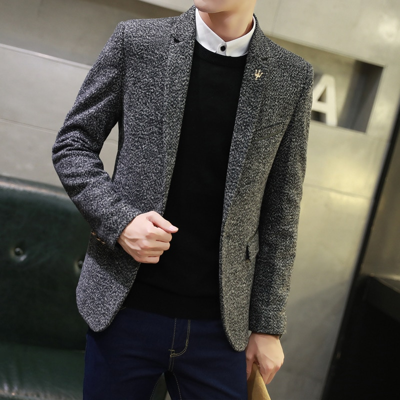 Spring men leisure pure color suit small suit fashion single coat of cultivate one's morality