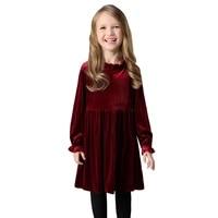 thick warm velvet dresses 2021 winter spring age for 4 14 teenage girls long sleeve dress elegant frocks autumn big girl clothes