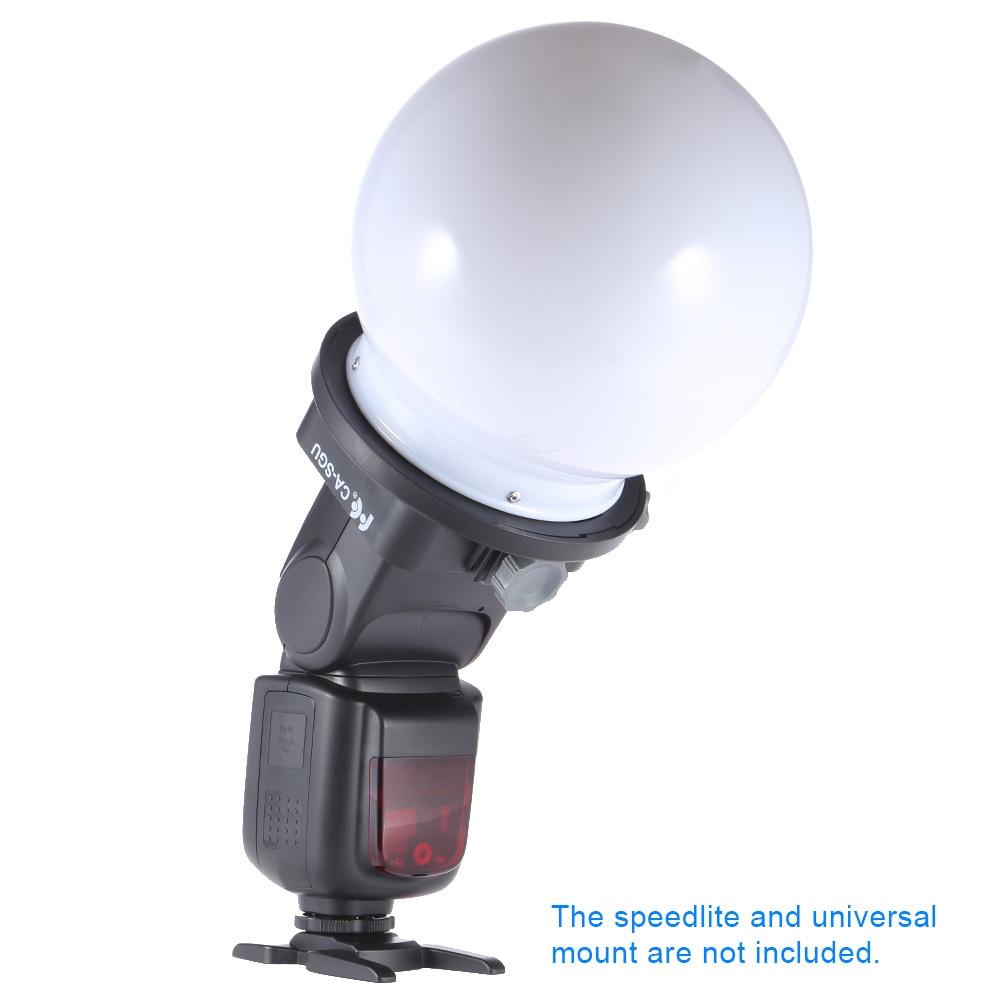 SGA-DB150 Universal Speedlite Flash fotografía difusor bola suave cúpula Softbox para Nikon Canon Yongnuo Godox Flash
