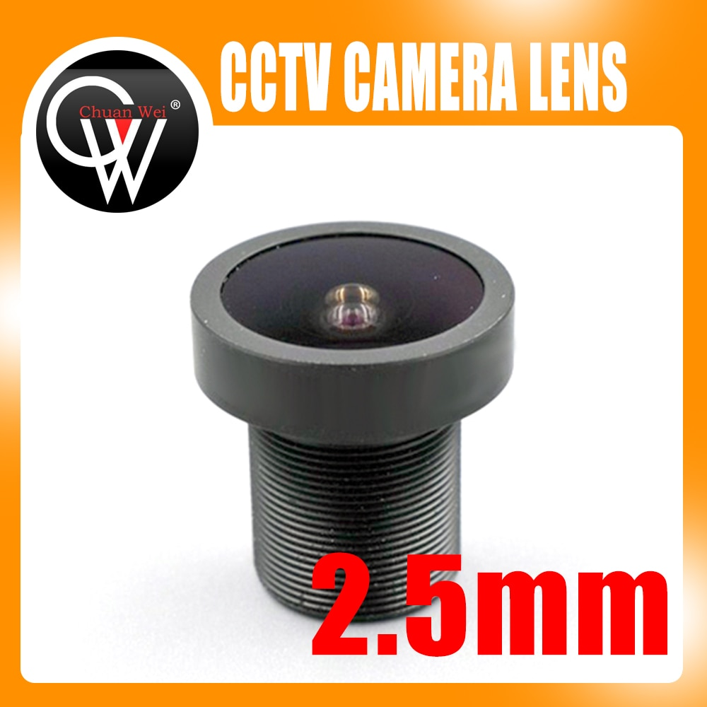 Nova Lente 5MP PEIXE OLHO Wide Angle lente de 2.5mm 2.5mm Fix Board PARA CCTV Segurança Câmera IP HD