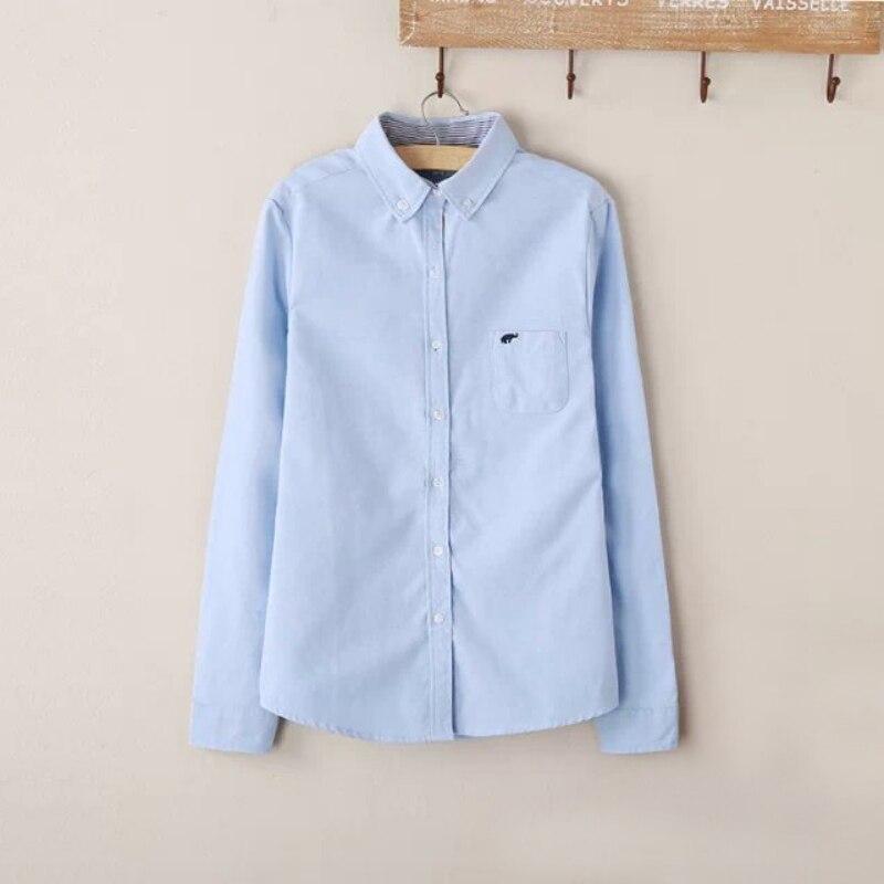 2019 mujeres Tops blusa Primavera de manga larga Casual Body Denim camisa Slim algodón Jeans camisas mujeres Camisas Blusas