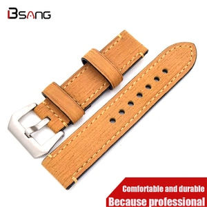 Genuine Leather 20MM 22MM 24MM 26MM Strap The new men and wome fashion Watch Bands Soft Bracelet Belt Stainless Steel  Buckle