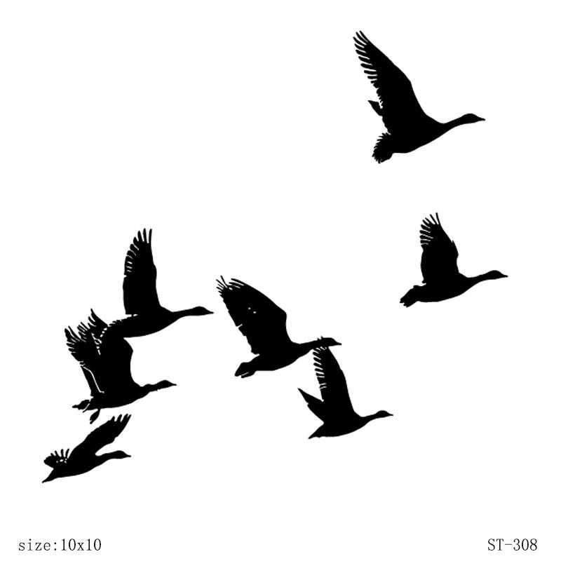 AZSG-timbres oiseaux migrateurs/oie sauvage   Clair, pour bricolage, cartes décoratives de Scrapbooking, fabrication artisanale, fournitures de décoration amusantes, 10x10cm