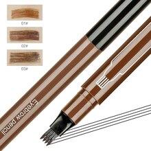 SUAKE Microblading brwi Pen wodoodporne widełki tatuaż na brwi ołówek profesjonalny grzywny szkic cieczy Eyeliner ołówek