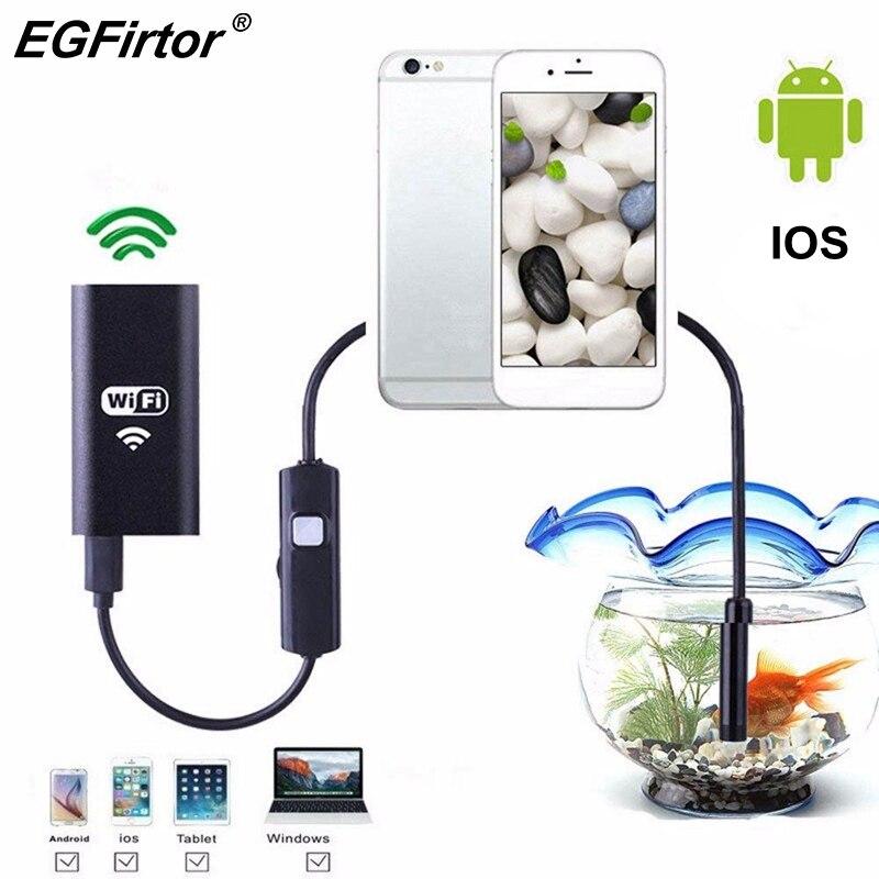 WI-FI Endoscópio Endoscópio Câmera Android Câmera Mini IP Câmera de Inspeção Cabo Flexível Cobra Macio 8mm Recarregável USB IOS Telefone