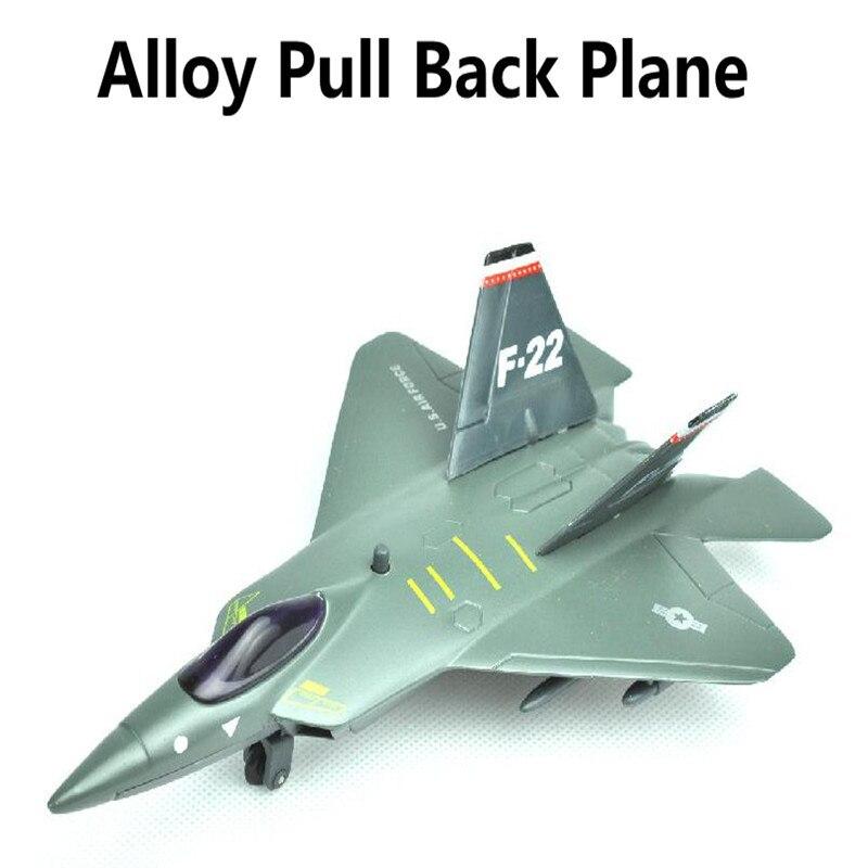 F22 Avión de aleación de atrás modelo de avión de juguete vehículos Diecasts aviones juguetes envío gratis