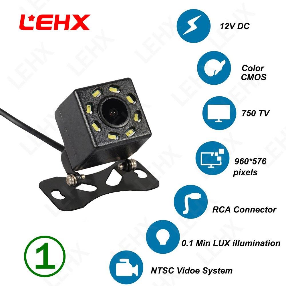 LEHX visión nocturna vista trasera de coche cámara de marcha atrás aparcamiento automático impermeable 170 grados HD impermeable CCD monitor HD
