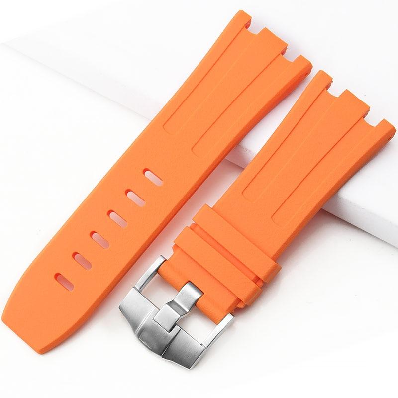 Ap силиконовый ремешок 28 мм Королевский дуб силиконовый ремешок оранжевый AP часы черная Пряжка 28 мм Морская серия