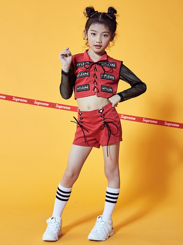 New girls jazz dance suit clothing dance clothes suit dance clothes exposed navel shorts long sleeve costume children aluminum foil clothing fire fighting suit fireman outside suit high tempreture protective clothes radiation proof clothes