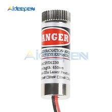 شعاع قابل للتعديل 650nm 5mW الأحمر الصليب وحدة الليزر رئيس عدسة زجاجية فوكوسابل فئة الصناعية 3-5V